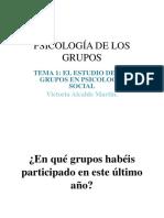 Psicología de los Grupos Tema 1