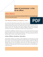 Types of Commission