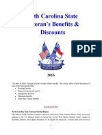 Vet State Benefits & Discounts - NC 2016