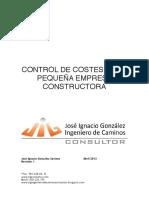 Control de Costes en La Pequeña Empresa Constructora