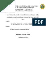 Proyecto de Tesis HABITOS DE ESTUDIO Y RENDIMIENTO ACADEMICO