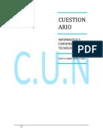 CUESTIONARIO DE INFORMATICA