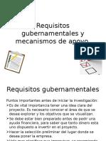 Requisitos Gubernamentales y Mecanismos de Apoyo