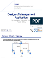 Design of Management Application