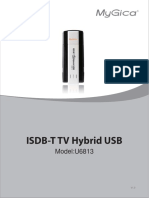 MyGica ISDB-T TV Hybrid USB User Manual