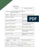 Português, Conjunções