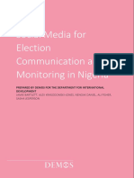 Bartlett, J. Et Al. (2015). Social Media for Election Communication and Monitoring in Nigeria. Demos, London.