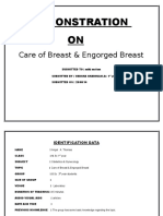 DEMONSTRATION on Care of Breast