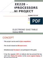 Electronic Quiz Table