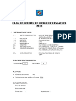 Plan de Gestion de Riesgo de La Institucion Educativa Ccesa007