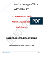 Article # 27 -- US Supreme Court Judge Scalia Death Analysis - ASTROLOGICAL REASONINGS