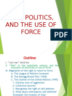 Law, Politics and the Use of Force