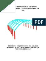 Analisis Estructural de Techo Parabolico Del Coliseo Municipal de Ica