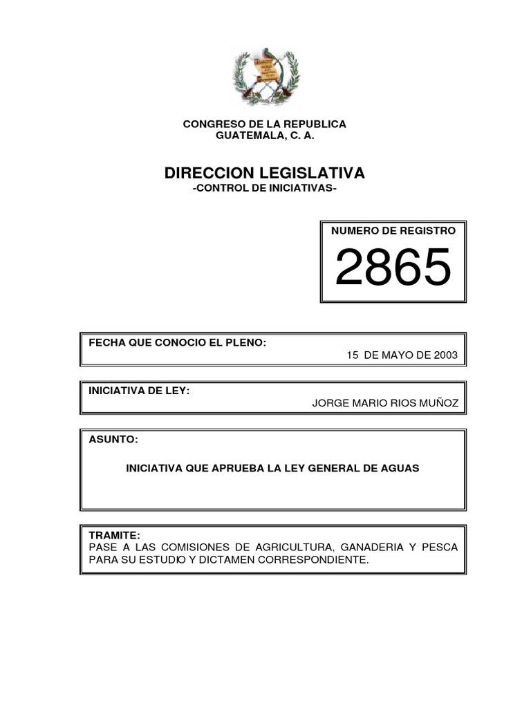 Iniciativa de Ley 2865