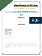 Vencendo o Exame de Ordem - Plano de Estudos Exame de Ordem Xvii
