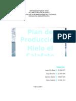 Plan de Produccion Fabrica de Hielo