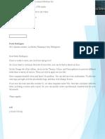 Acceptance letter Sample
