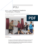 02-02-2016 Síntesis Puebla - EPN Y RMV Inauguran El Hospital de Traumatología y Ortopedia