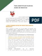 CLAVES PARA OPORTUNIDAD DE NEGOCIO