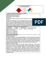Hoja de Seguridad Del Sulfuro de Hidrigeno