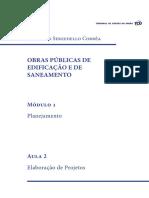 Obras Publicas Edificacao Saneamento Modulo1 Aula2