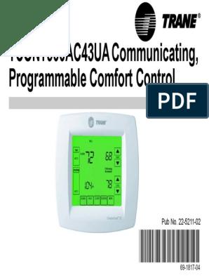 trane comfort control manual