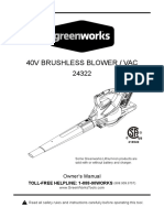 Greenworks Blower Manual