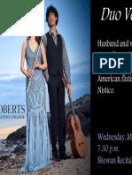 Duo Vela Concert Flyer