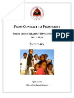 TIMOR‐LESTE'S STRATEGIC DEVELOPMENT PLAN - 2011 – 2030