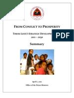 TIMOR‐LESTE'S STRATEGIC DEVELOPMENT PLAN - 2011 – 2030