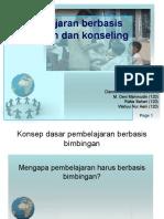 Pembelajaran Berbasis Bimbingan Dan Konseling