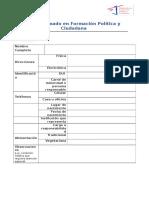 Ficha de Preselección. EFPC 2016