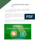 Blogger y Google Drive Hojas de Cálculo