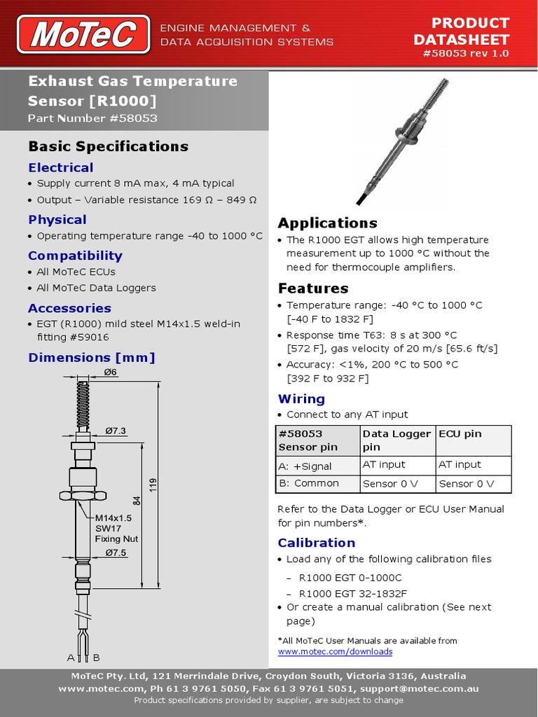 CDS58053 EGT Sensor 1000C pdf (8 views)