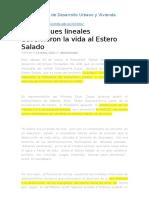 Informacion Sobre Esteros en Ministerios Del Ecuador