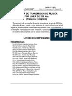 345r-Sistema de Transmision de Musica Por Linea de 220vca (p