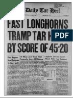 The Daily Tar Heel Sun Oct 7 1951 Segregated Seats at Game