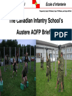 Canadian Infantry School AOFP Results Briefing