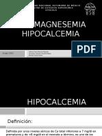 Hipomagnesemia e Hipocalcemia