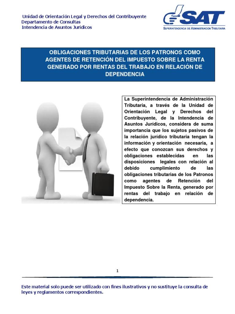 Obligaciones De Los Patronos Como Agentes De Retenci 243 N Del Isr