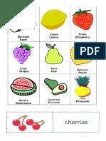 Frutas Verduras Animales y Medios de Transporte en Ingles Imagenes