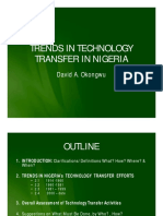 Trends in Technology Transfer in Nigeria