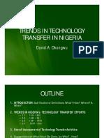 Trends in Technology Transfer in Nigeria