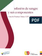 Guia de Transfusion de Sangre