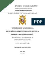 ESPINOZA, A. 2004. Investigación Arqueológica en Un Módulo Arquitectónico Del Sector a de Caral