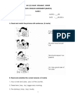 Year 3 Assessment March 2016 (English) Paper 1