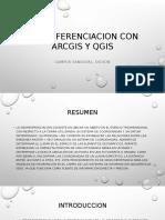 GEORREFENCIACION EN ARCGIS Y QGIS
