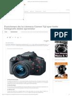 Funciones Canon T5i