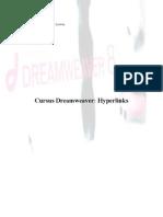 cursus hyperlinks in dreamweaver