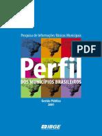 Perfil Dos Municipios - Munic2001